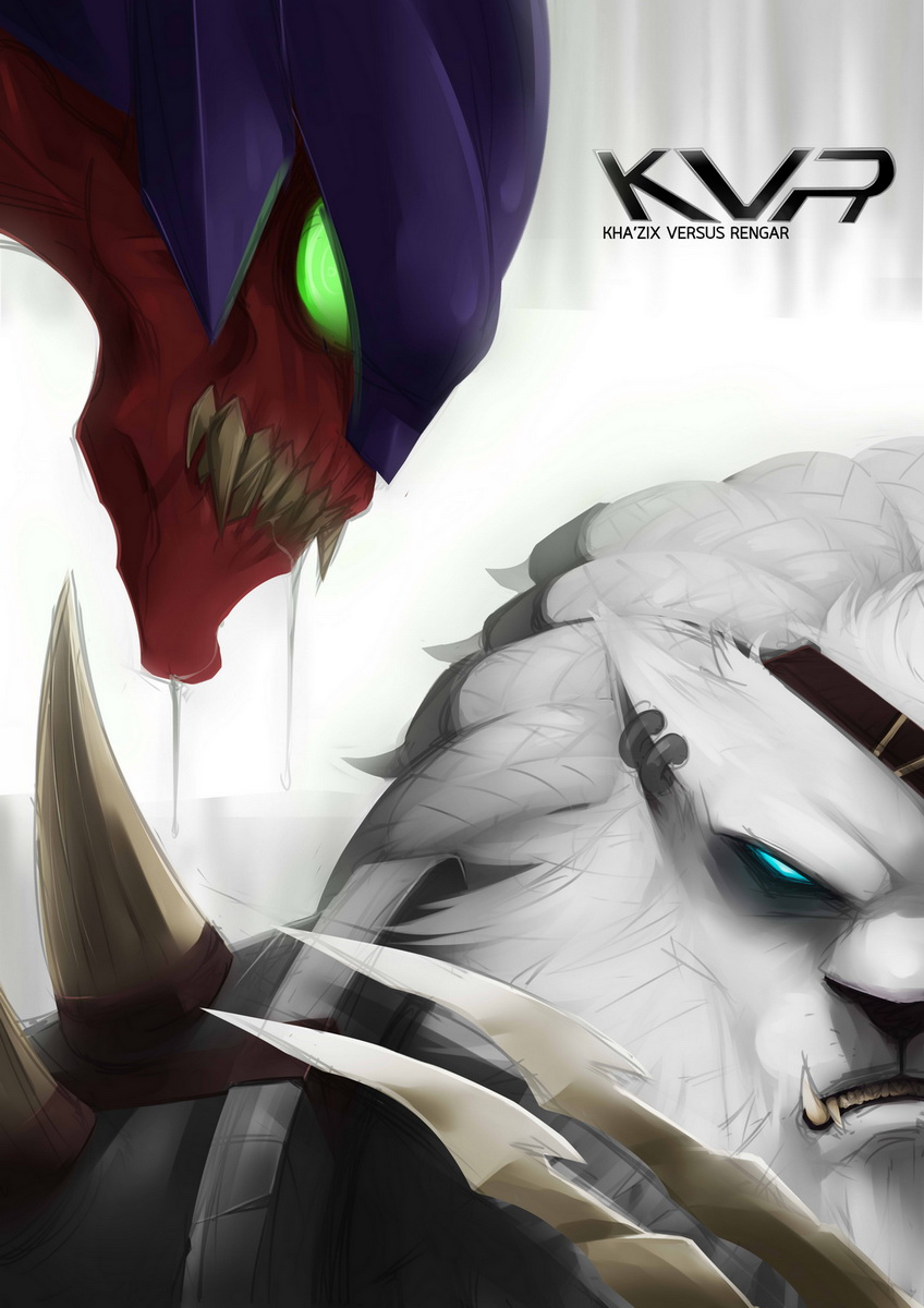 kha u0026 39 zix vs rengar league of legends fan
