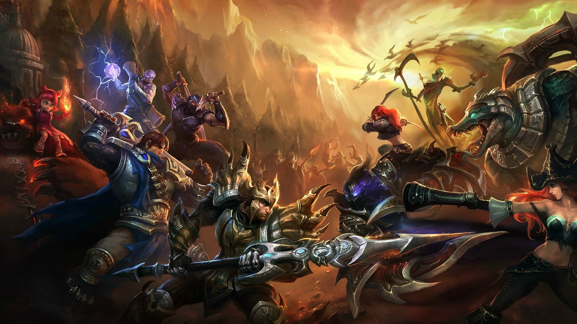 Jarvan IV, Garen, Shen, Ryze and Annie Vs Nocturne, Renekton, Katarina, Fiddlesticks and Miss Fortune