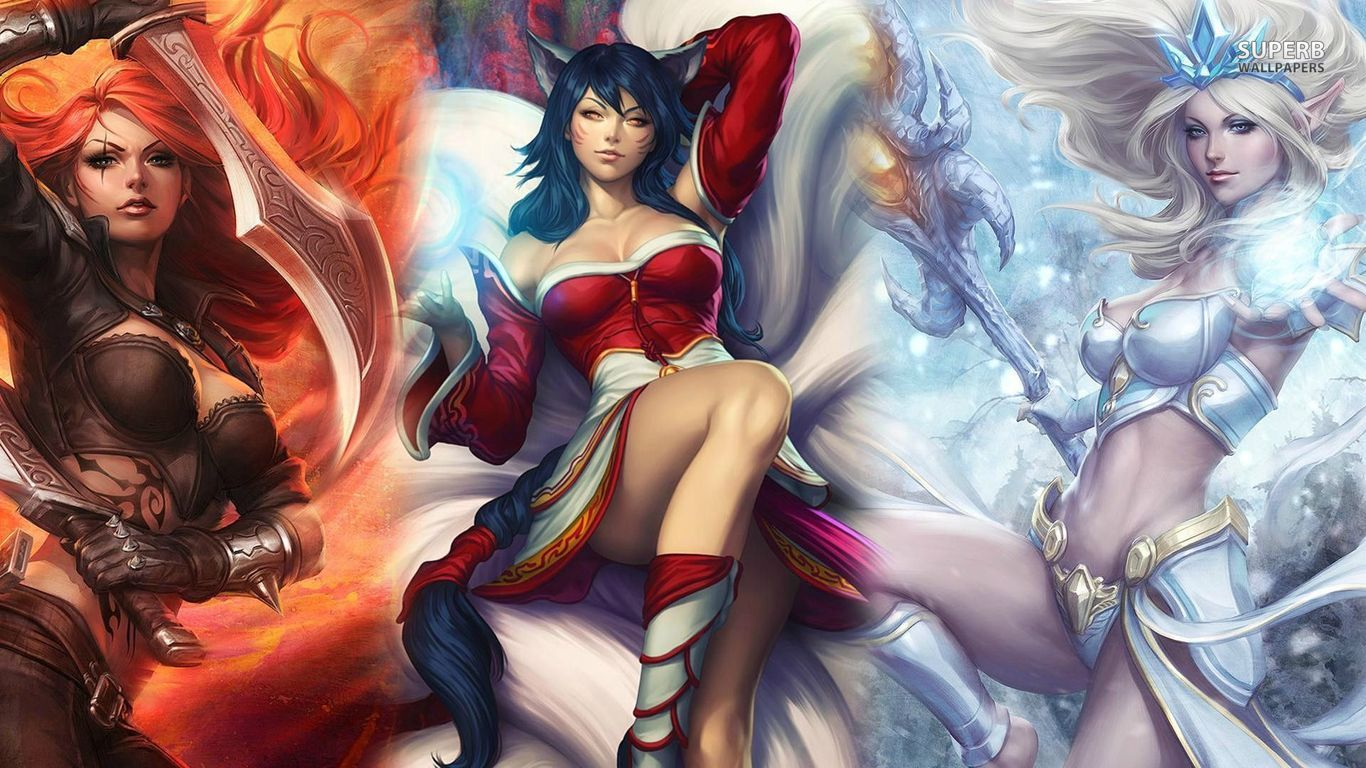 Katarina, Ahri and Janna