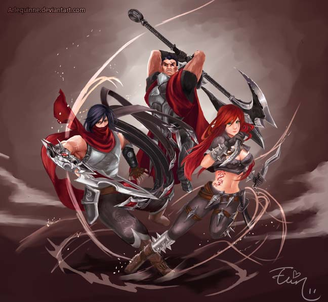 Katarina, Darius and Talon