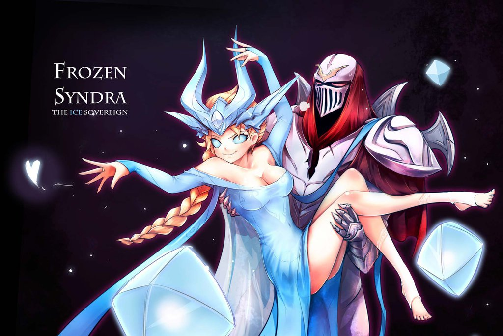 Syndra and Zed