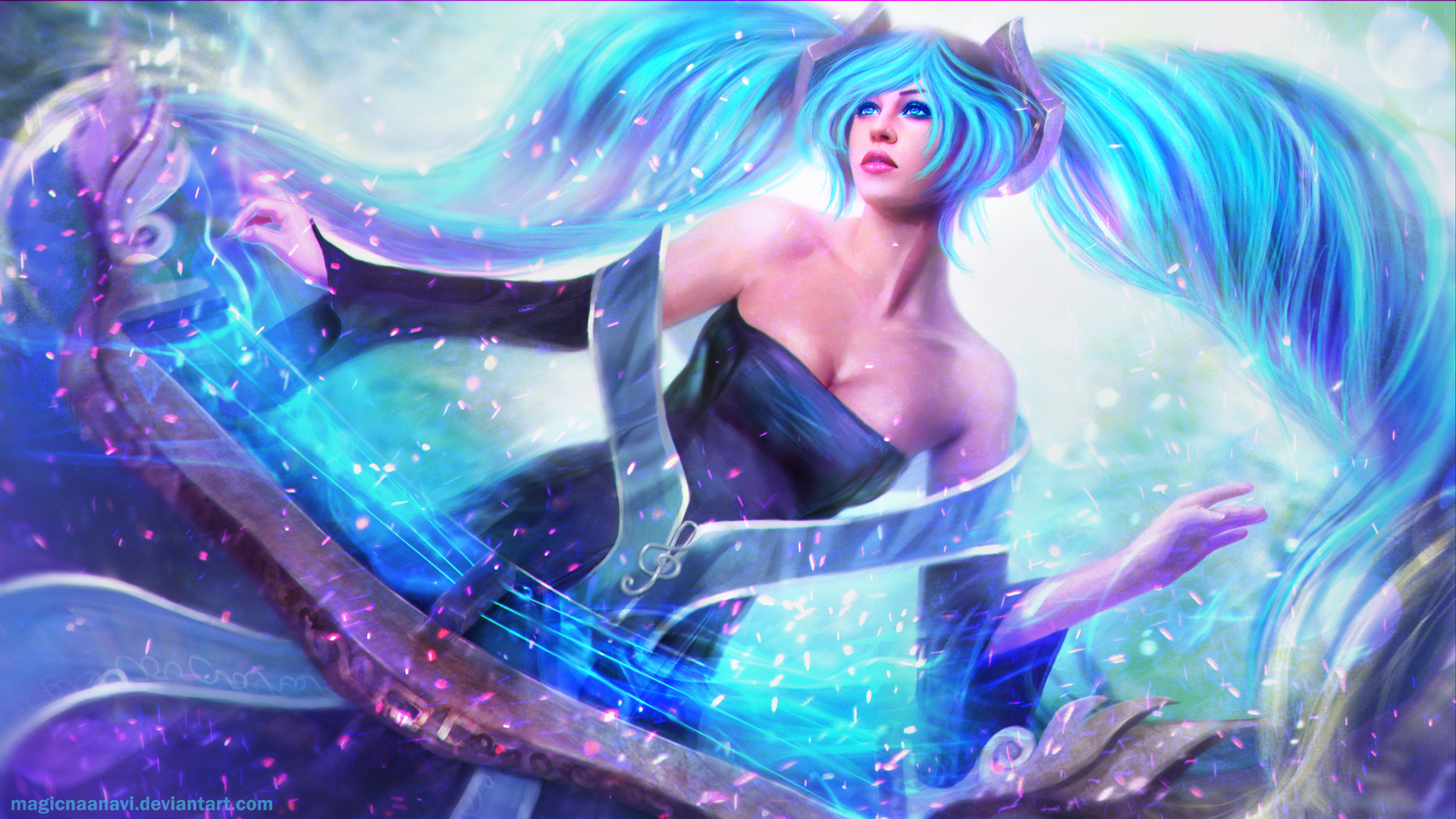 Sona League Of Legends Wallpaper HD 1920x1080
