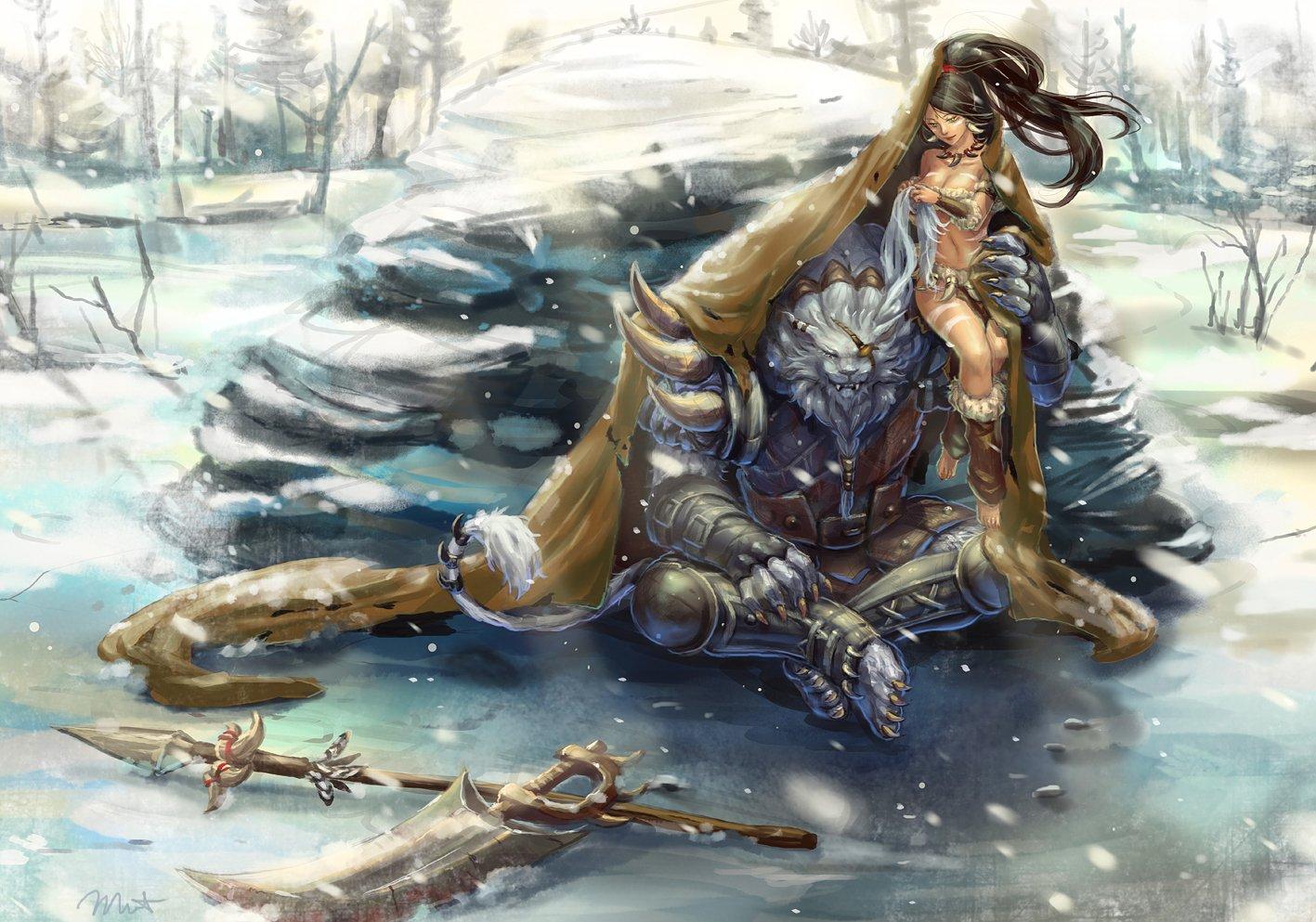 Nidalee and Rengar League Of Legends Fan Art 2