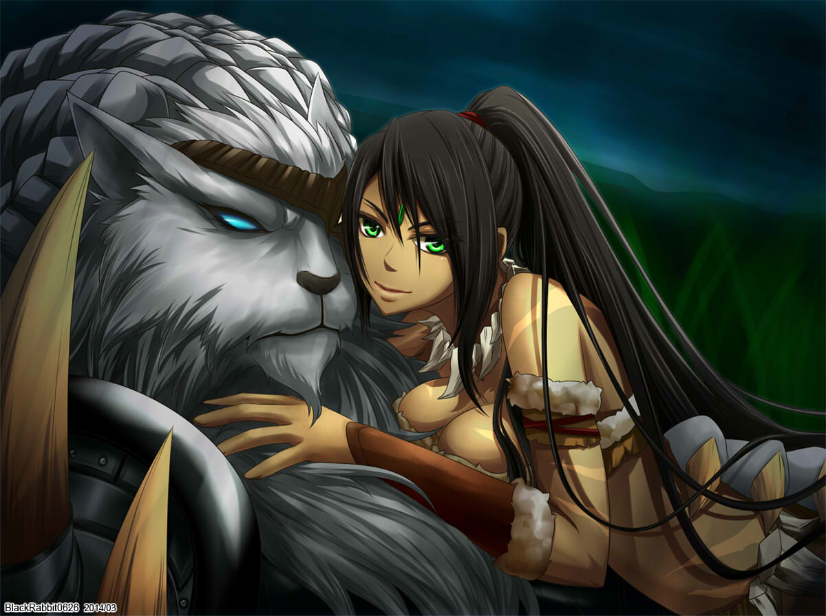 Nidalee and Rengar League Of Legends Fan Art 3