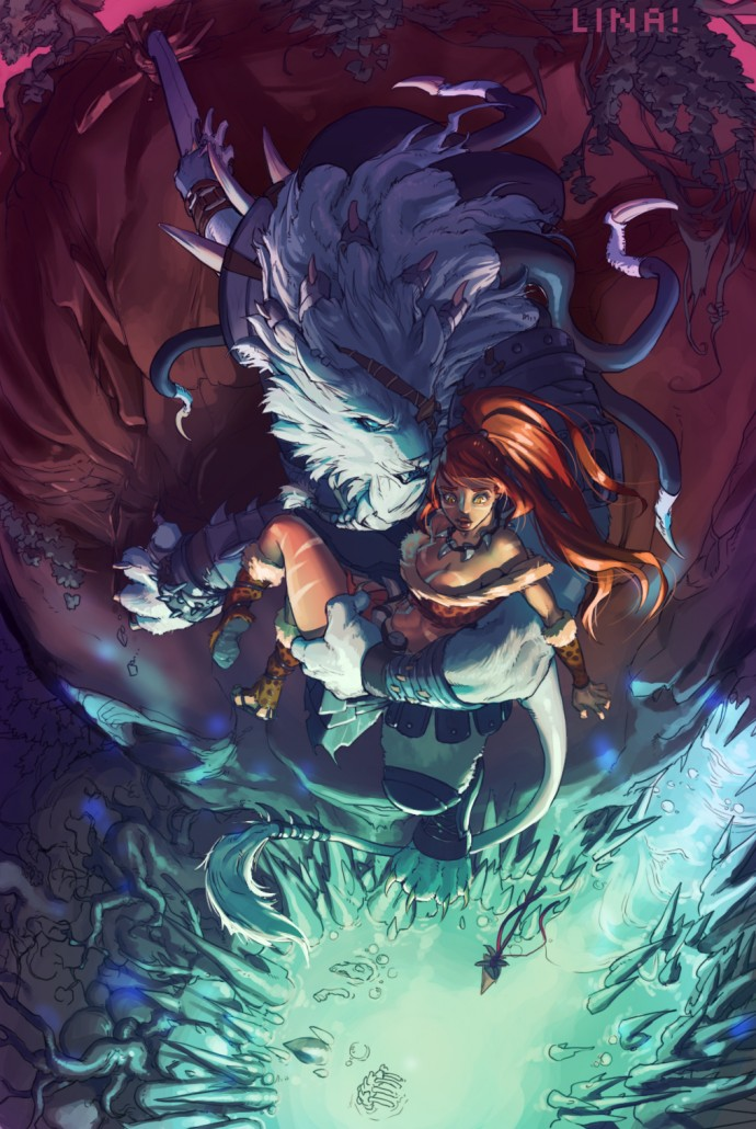 Rengar And Nidalee League Of Legends Fan Art Art Of Lol
