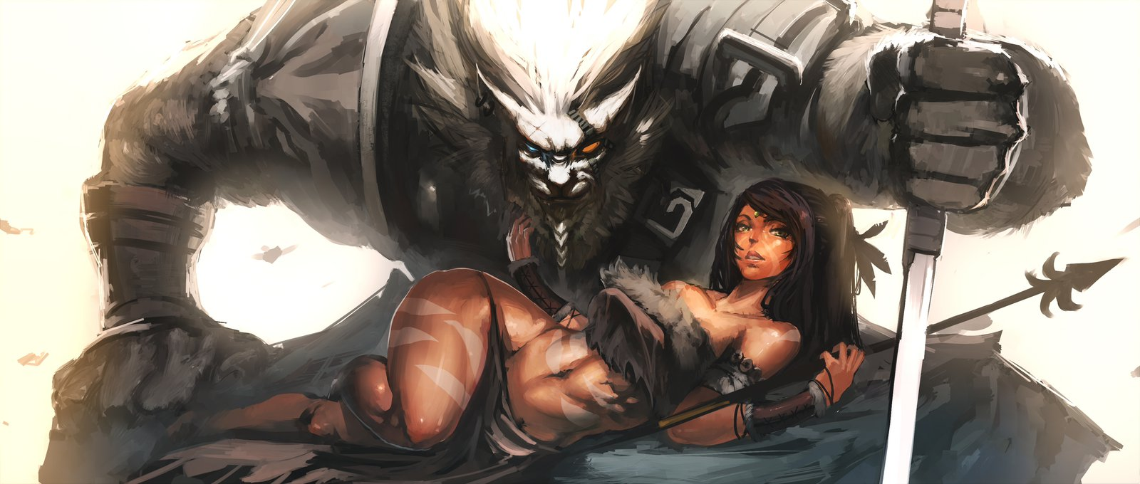 Nidalee and Rengar League Of Legends Fan Art 5