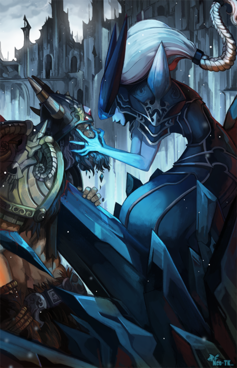 Olaf and Lissandra League Of Legends Fan-Art | Art-of-LoL