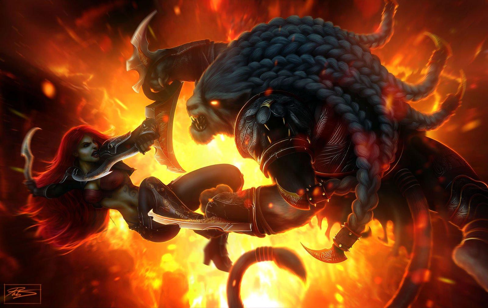 Katarina VS Rengar League of Legends Fan Art