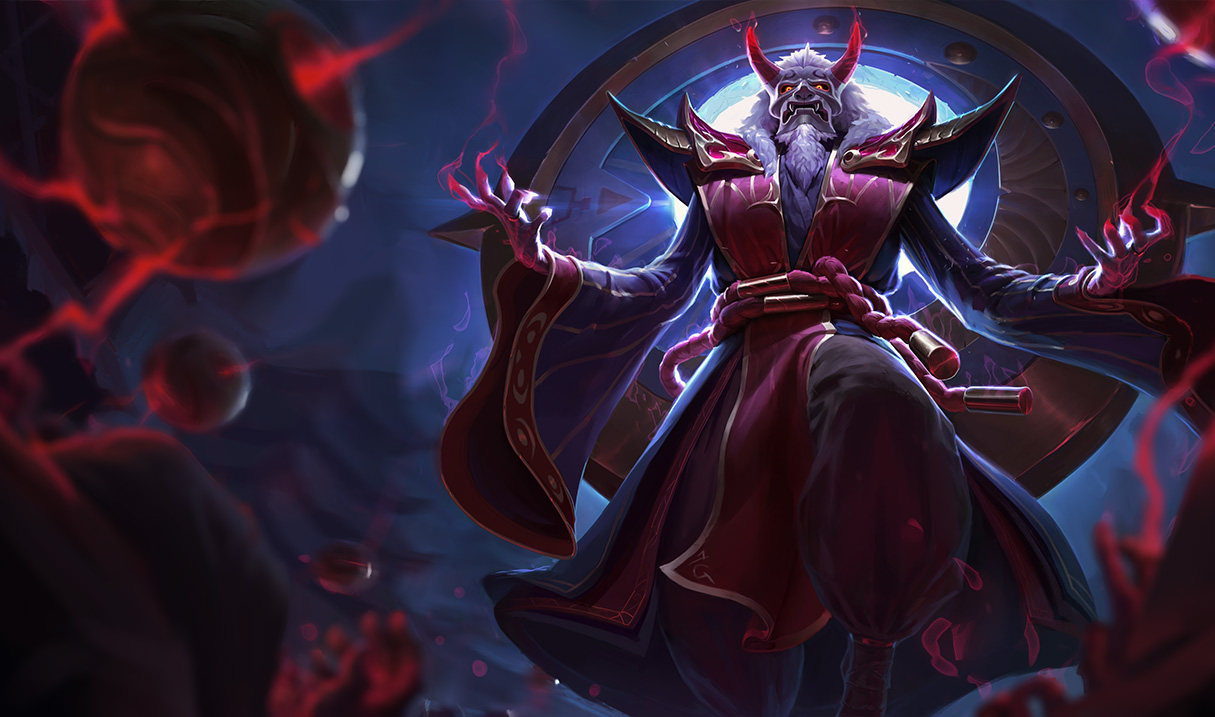 Blood Moon Zilean Splash Art League Of Legends Wallpapers Art Of Lol