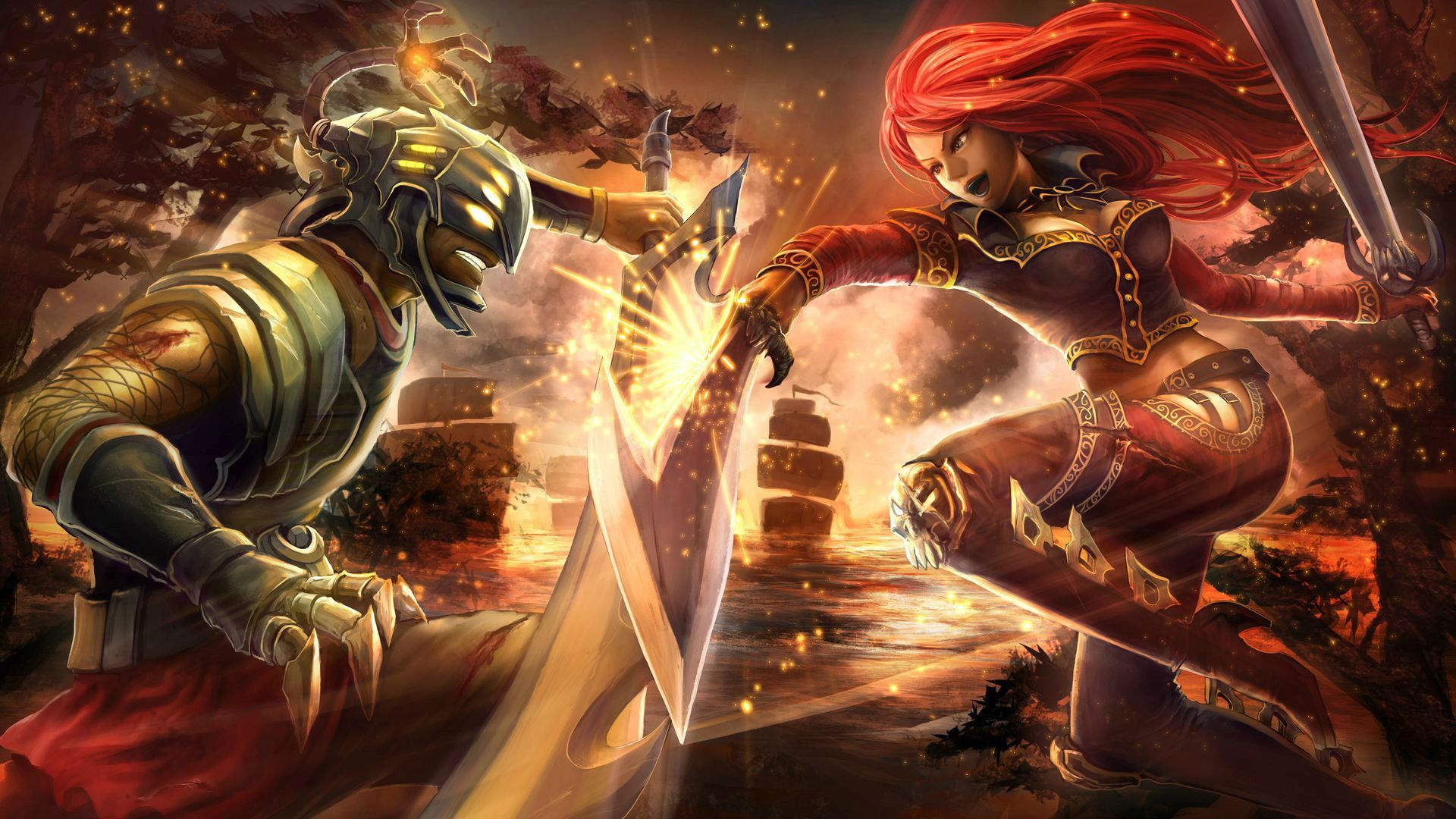 Katarina Vs Master Yi League Of Legends HD Wallpaper 1920x1080