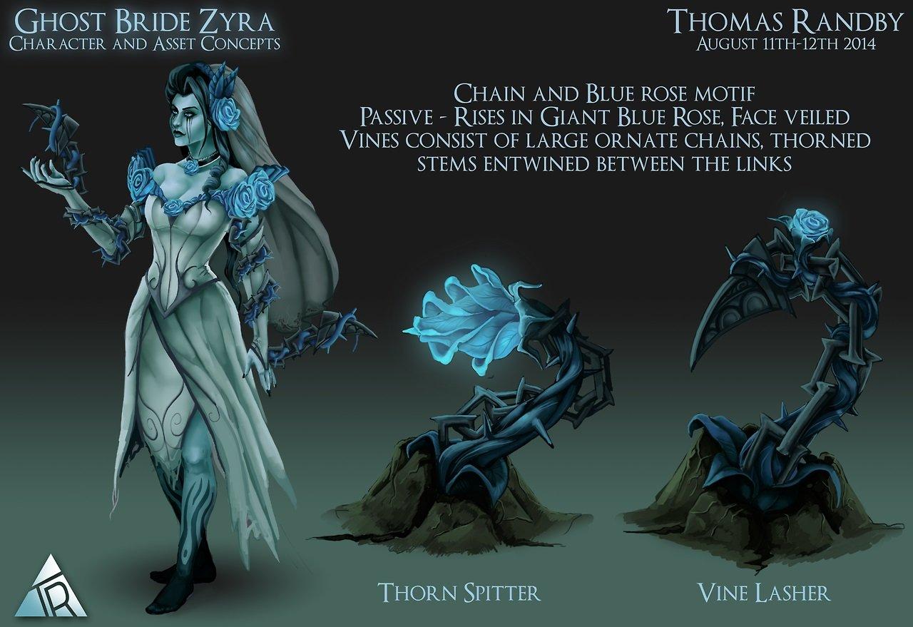 Ghost Bride Zyra League Of Legends Fan Art
