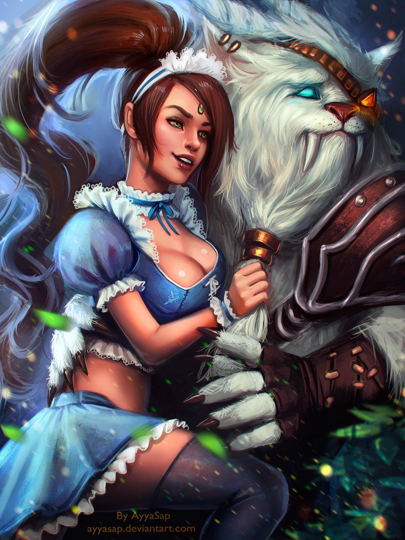 Nidalee and Rengar League Of Legends Fan Art