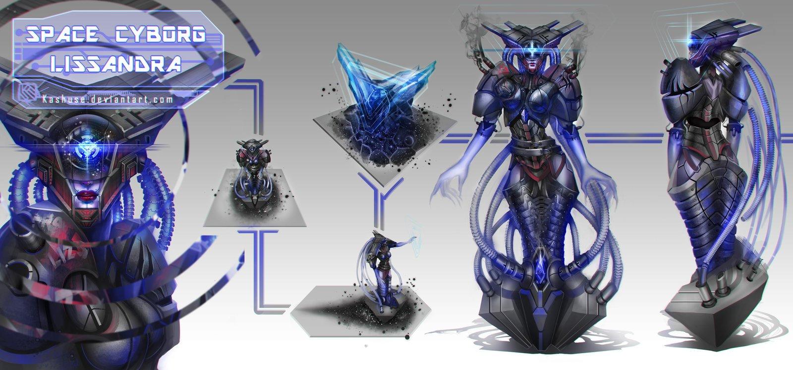 Space Cyborg Lissandra League Of Legends Fan Art