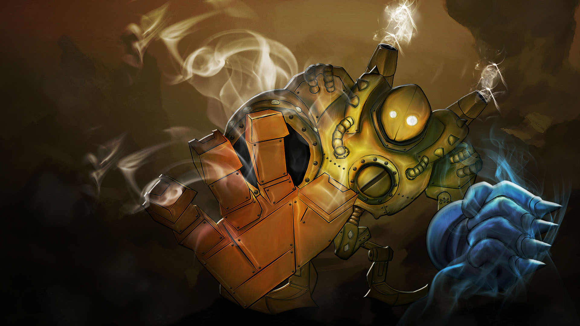 Blitzcrank League Of Legends Wallpaper HD 1920x1080