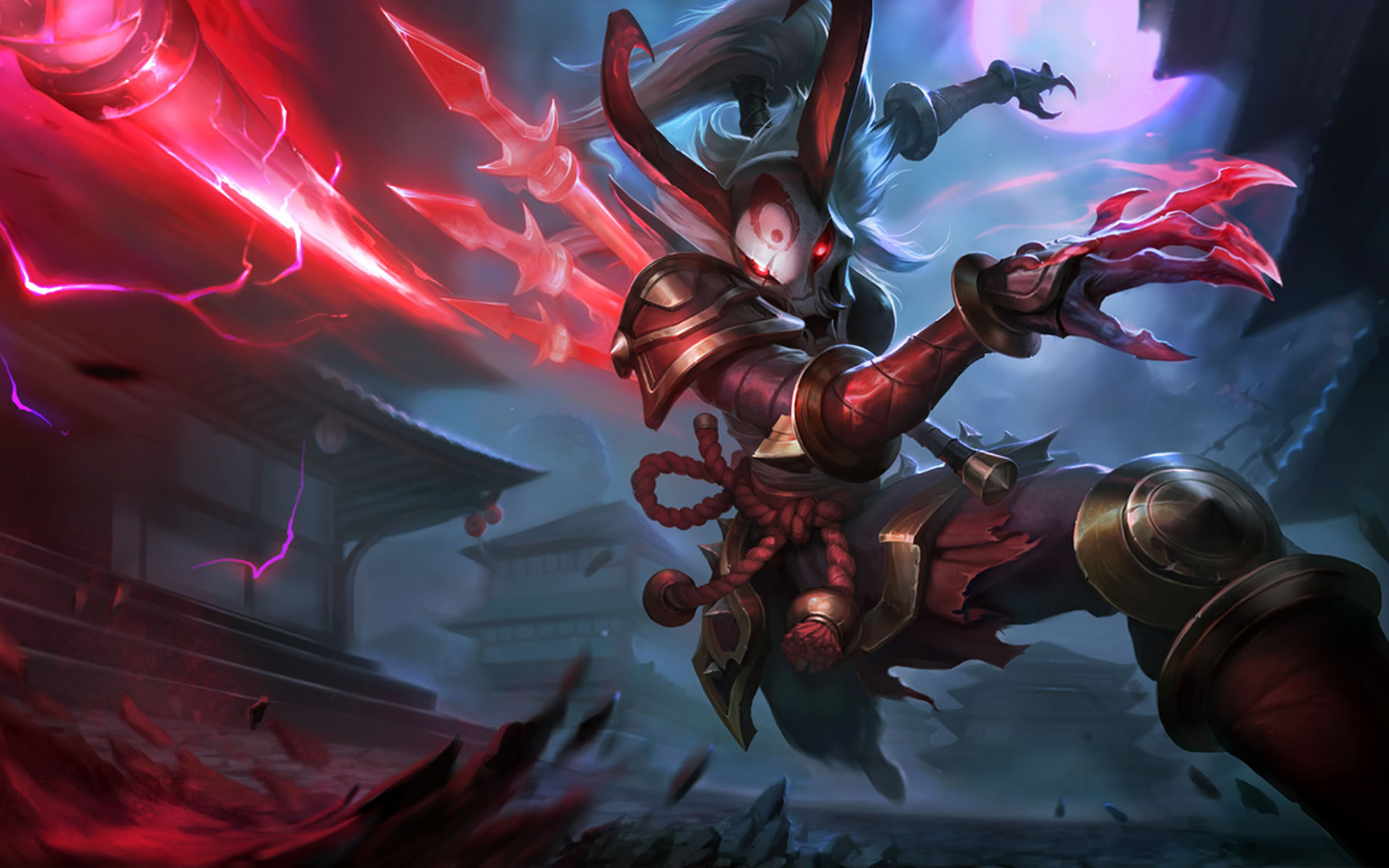 Blood Moon Kalista League Of Legends Wallpaper HD 1920x1200