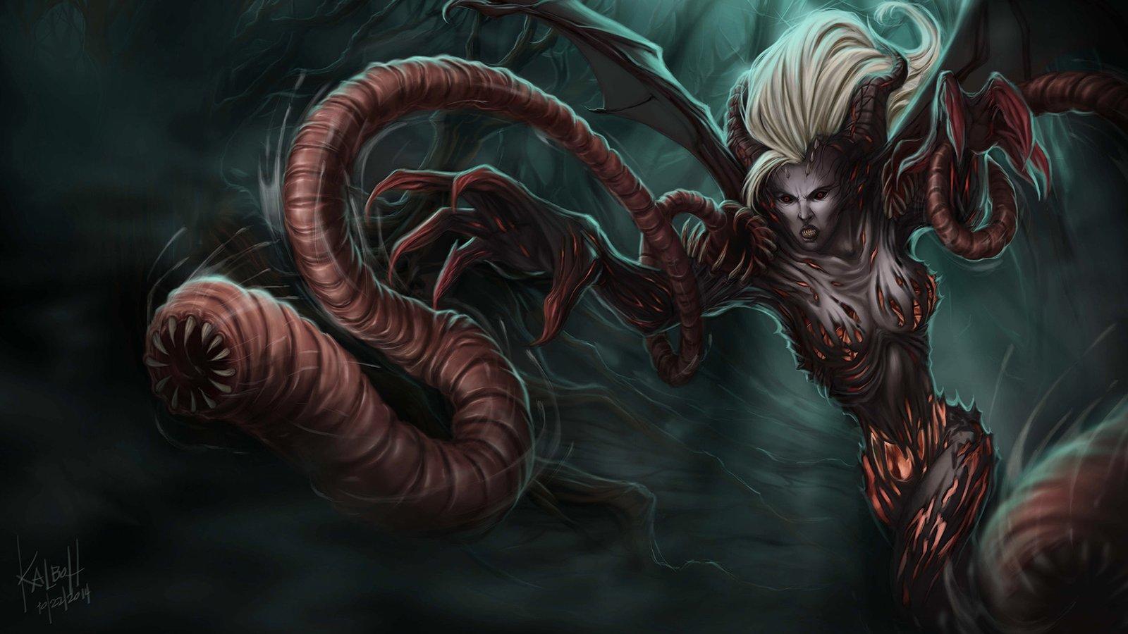 Demonic Zyra League Of Legends Wallpaper HD 1920x1080