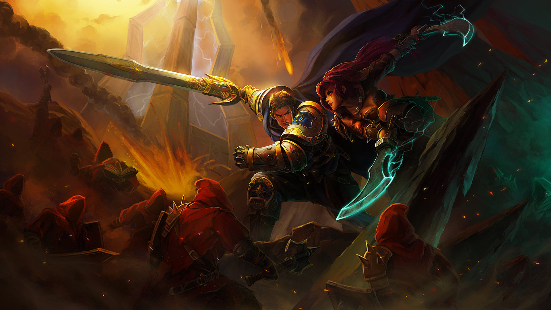 Garen vs Katarina League Of Legends Wallpapers HD 1920x1080