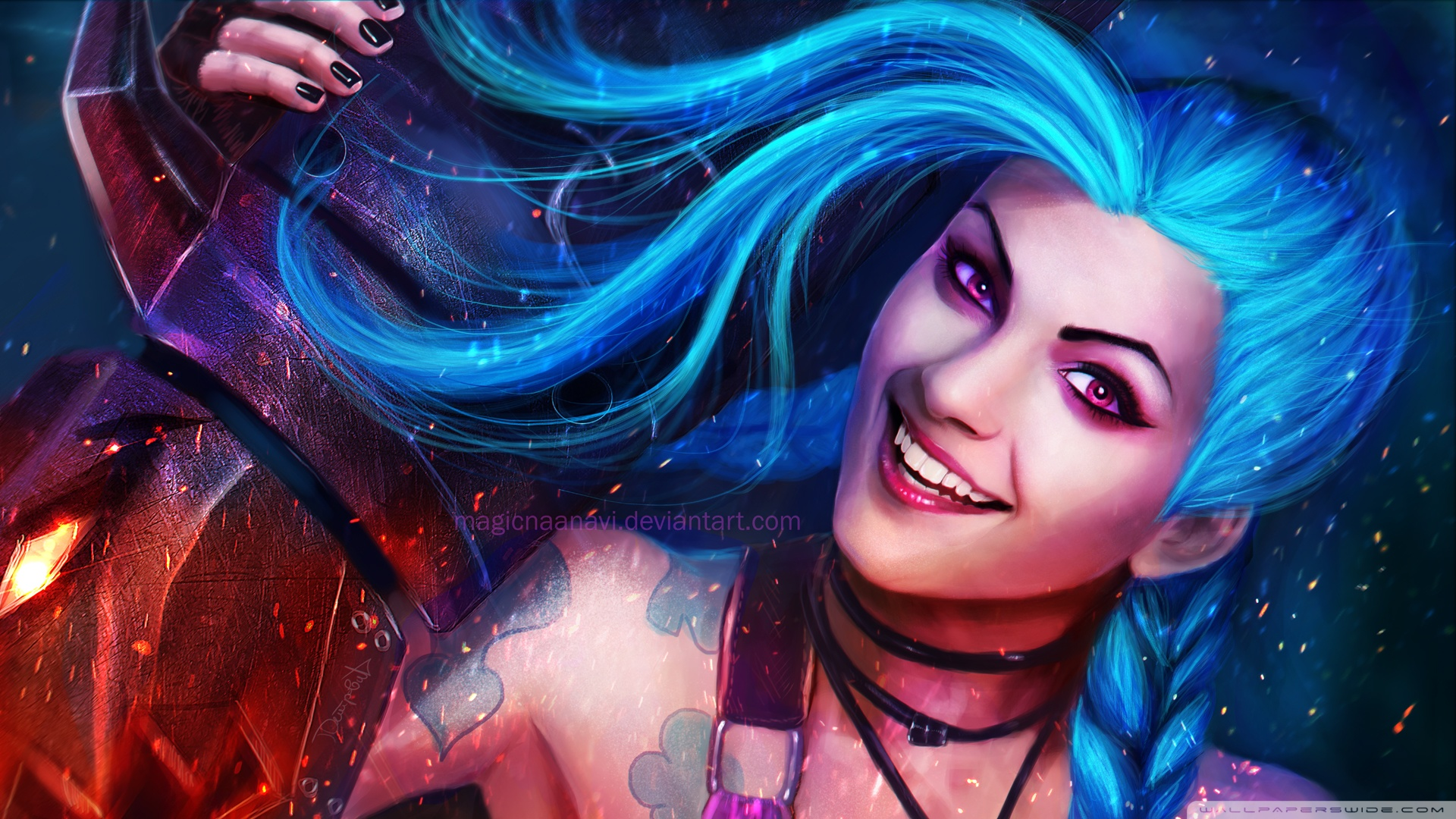Jinx League Of Legends Wallpaper HD 1920x1080 4