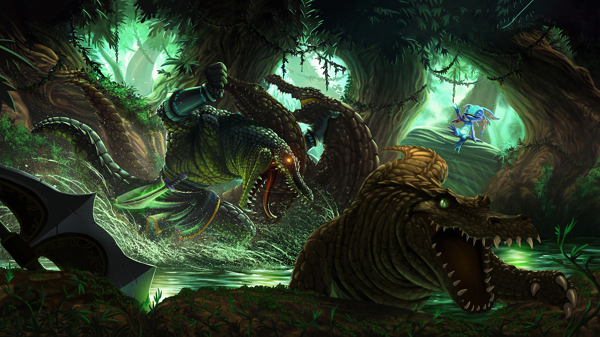 Renekton and Fizz League Of Legends Wallpapers HD 1920x1080