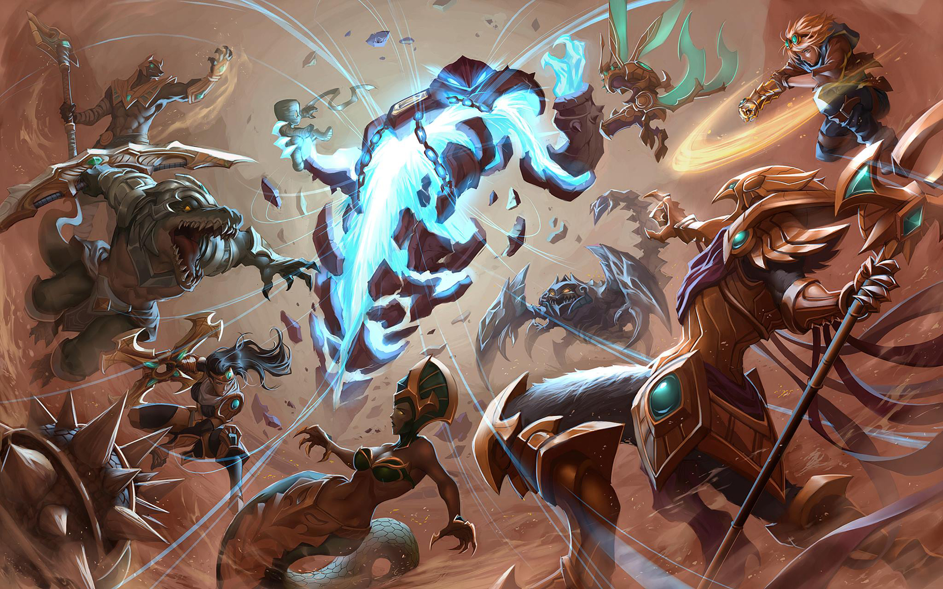 Teamfight League Of Legends Wallpapers HD 1920x1080