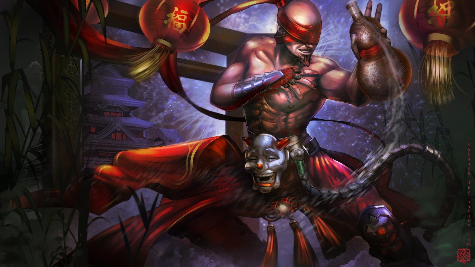 Lee Sin Drunken Fist League Of Legends Fan Art