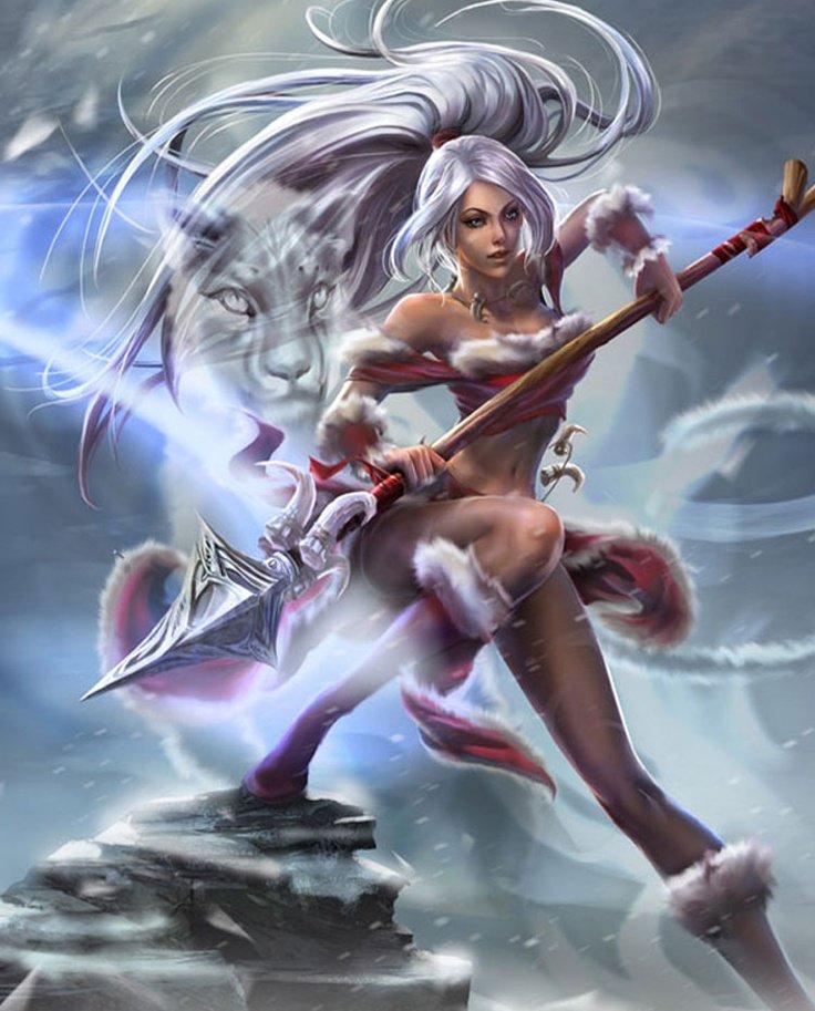 Snow Bunny Nidalee League Of Legends Fan Art