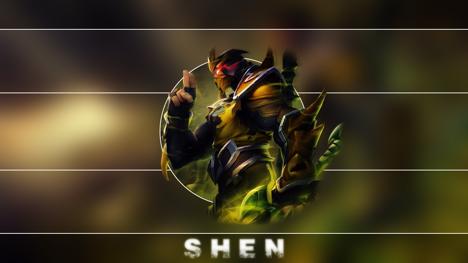 League Of Legends Wallpapers HD 1920x1080 Yellow Jacket Shen