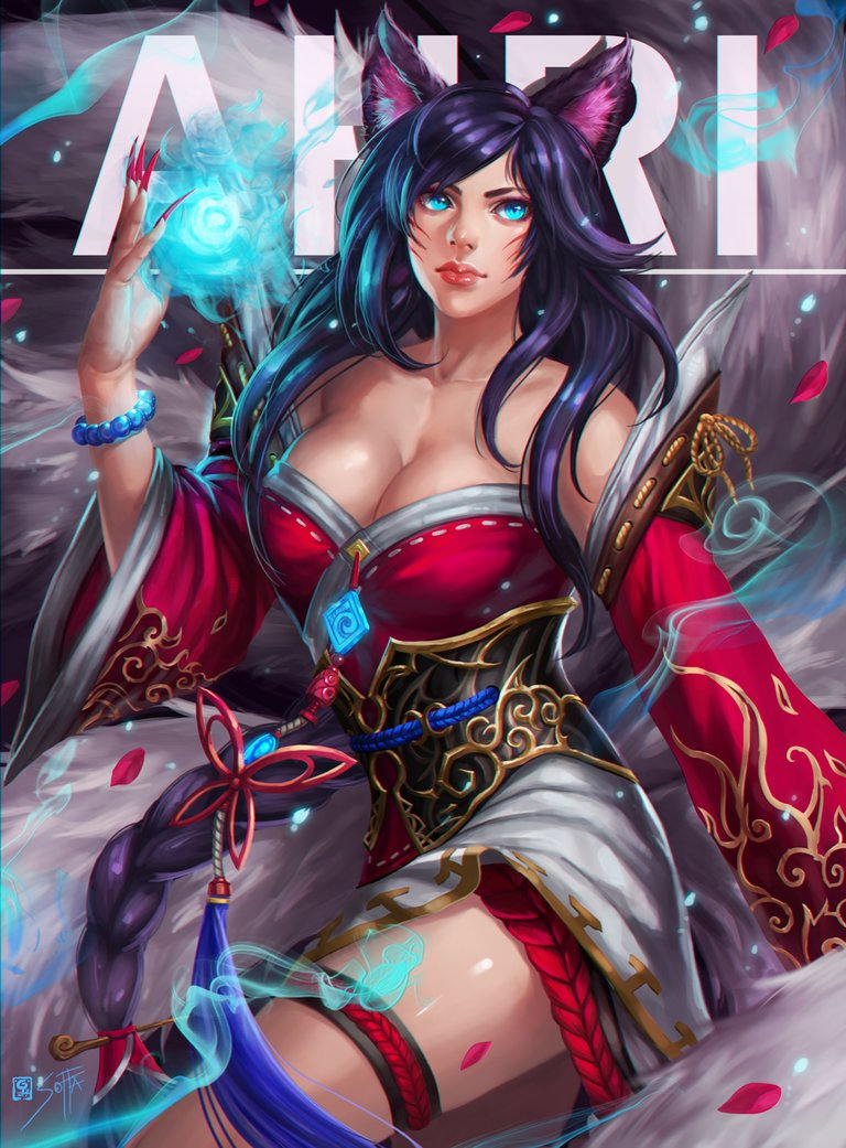 Ahri League Of Legends Fan Art 4