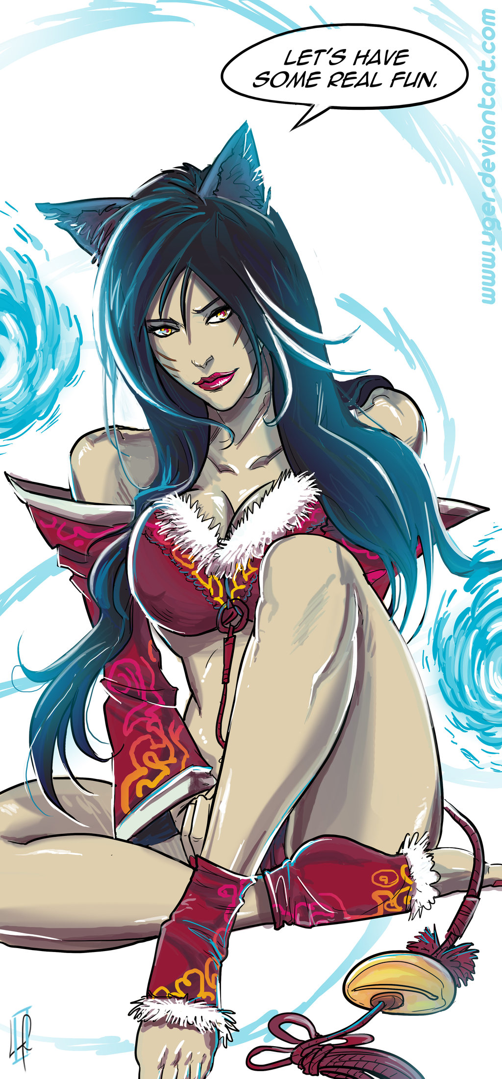 Ahri League Of Legends Fan Art 10