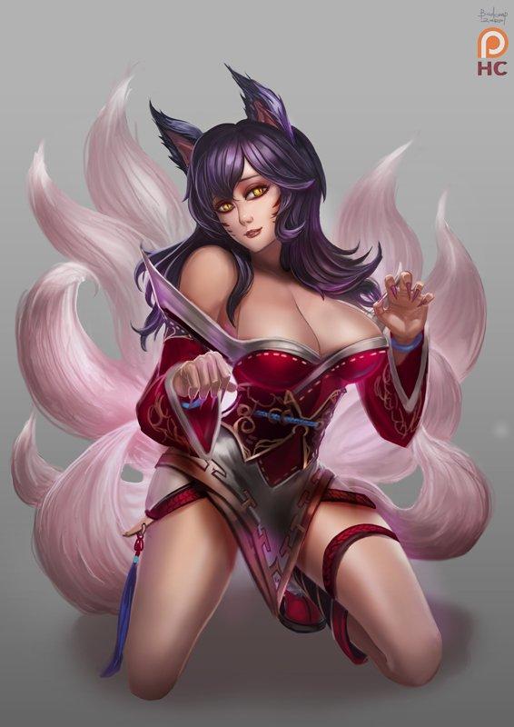 Ahri League Of Legends Fan Art 34