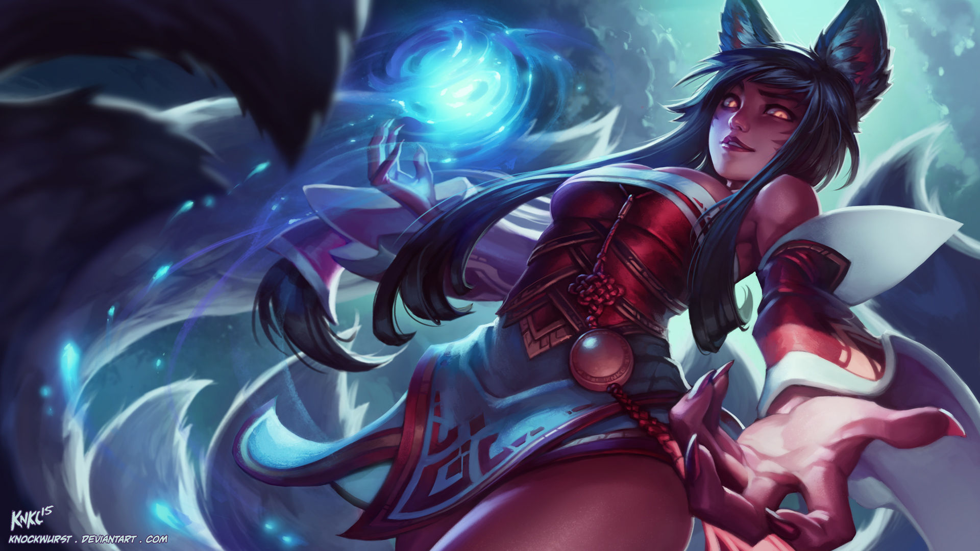 Ahri League Of Legends Wallpaper HD 1920x1080 1