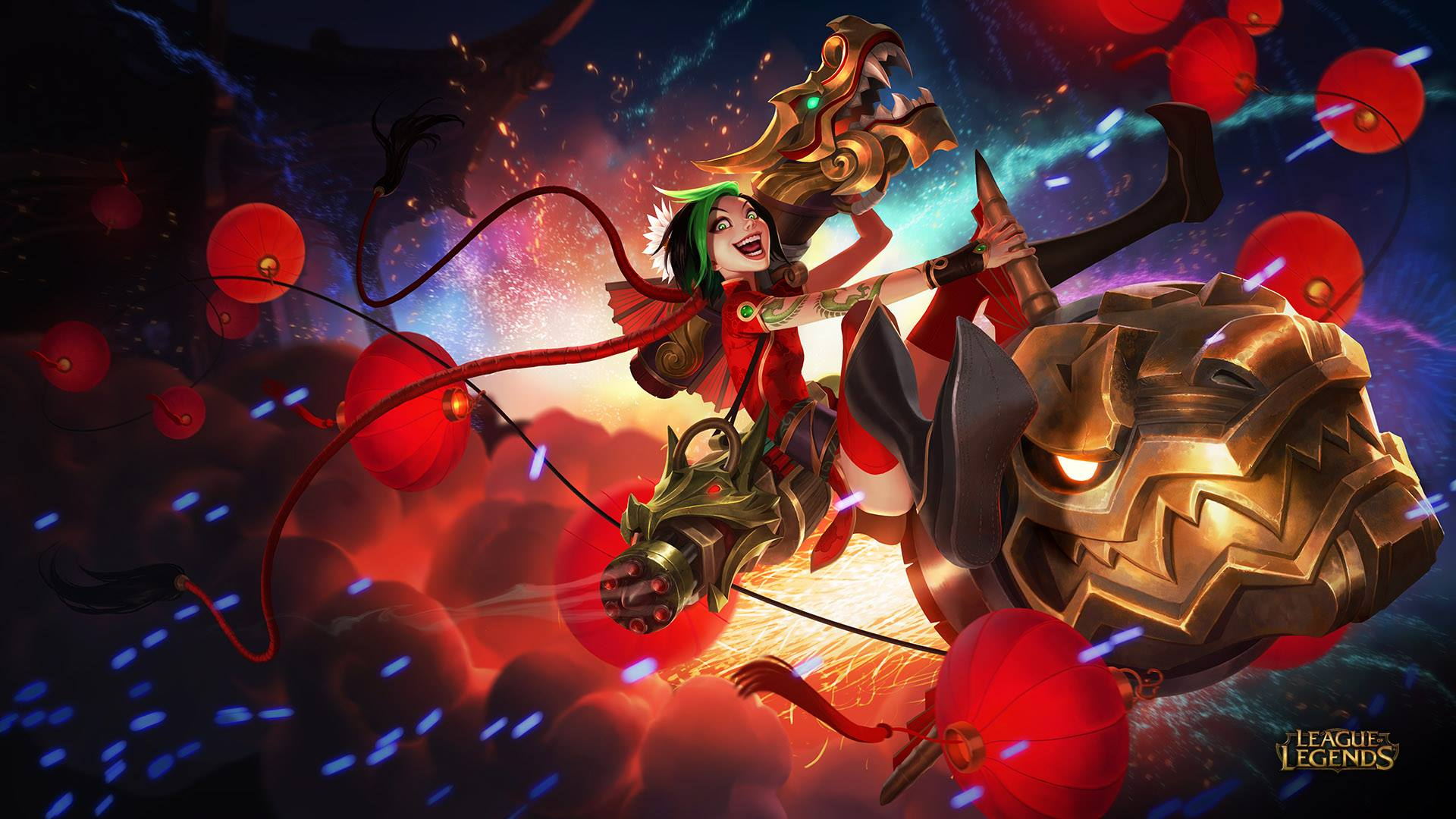 jinx league of legends wallpaper hd 1920×1080 league of legends