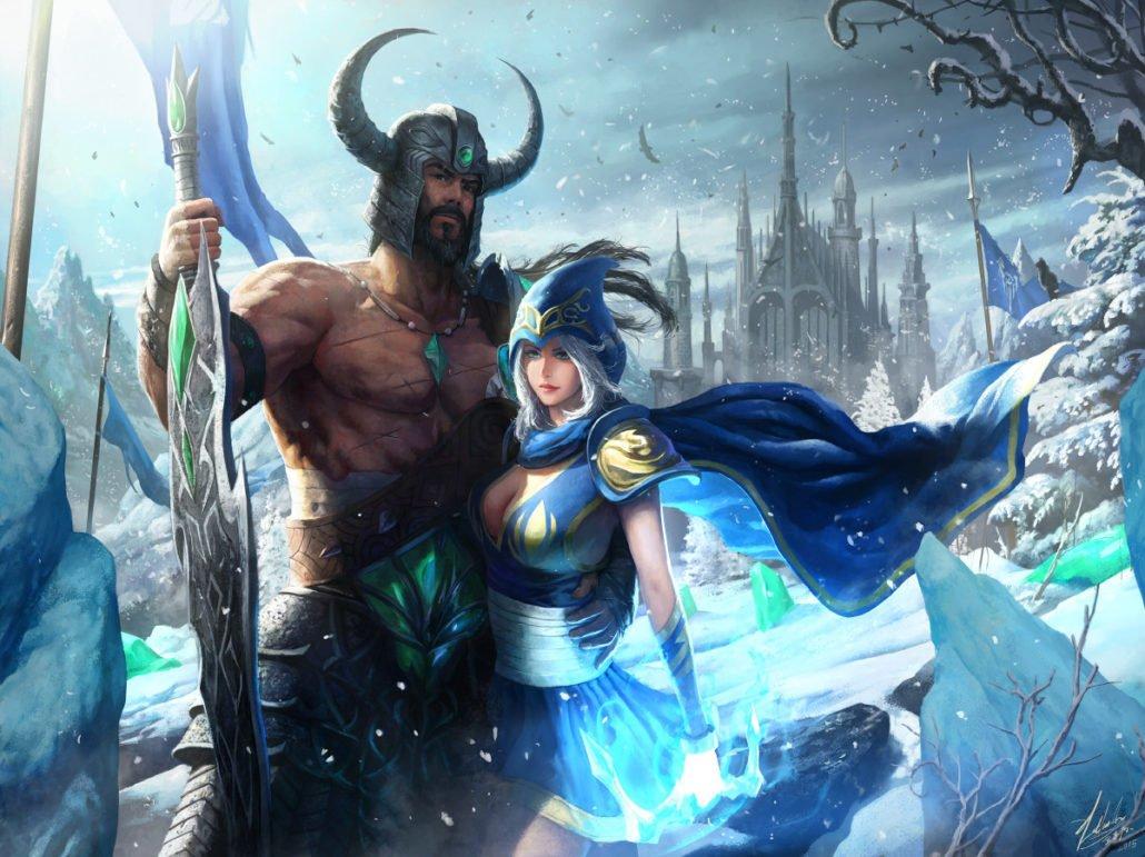 Tryndamere and Ashe League Of Legends Fan-Art   Art-of-LoL