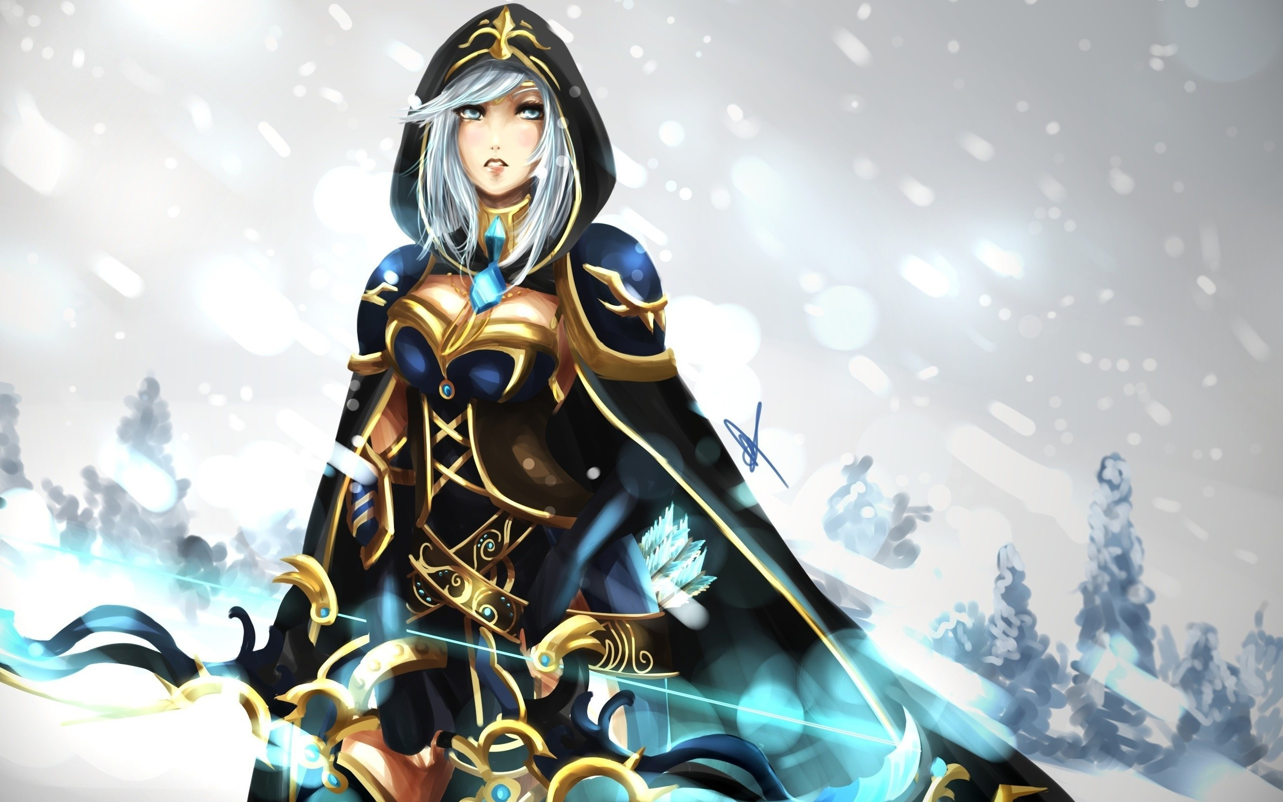 Ashe League Of Legends Wallpapers Art Of Lol
