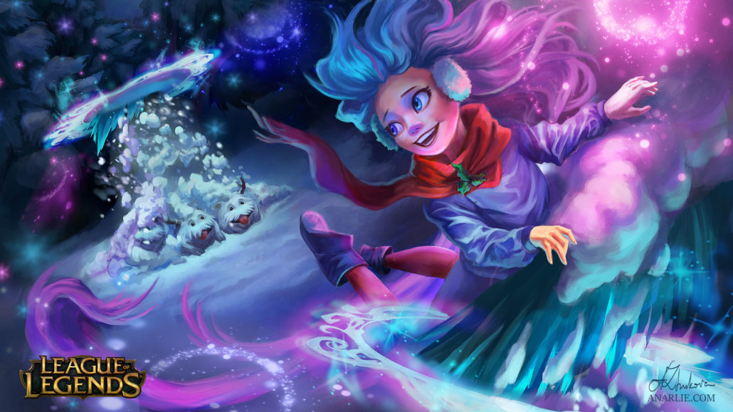 Snow day zoe by anarlie league of legends wallpapers art - Zoe wallpaper ...